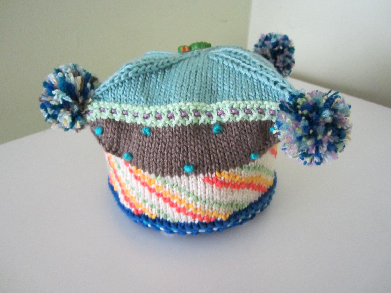 Knitted .Children beret hat