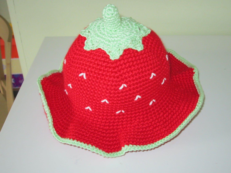 Crocher Strawberry Hat