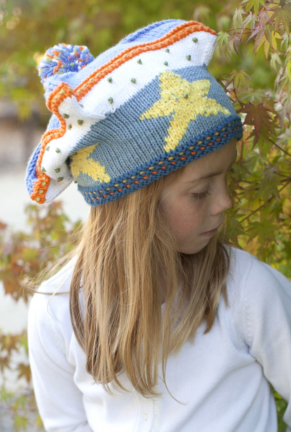 Knitted children hat for Upon a Starry Night Film