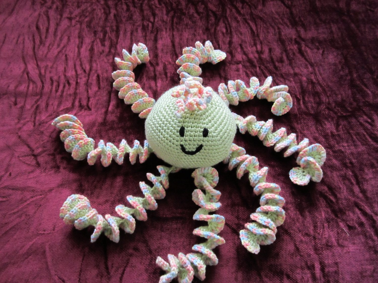 Crochet  Large Rainbow Octopus