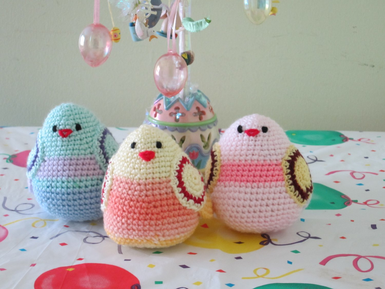 Crochet Set of 3 birds