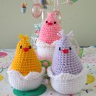 Crochet Set of 3 birds