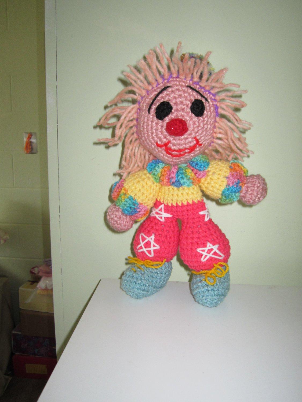 Crochet toy little funny clown