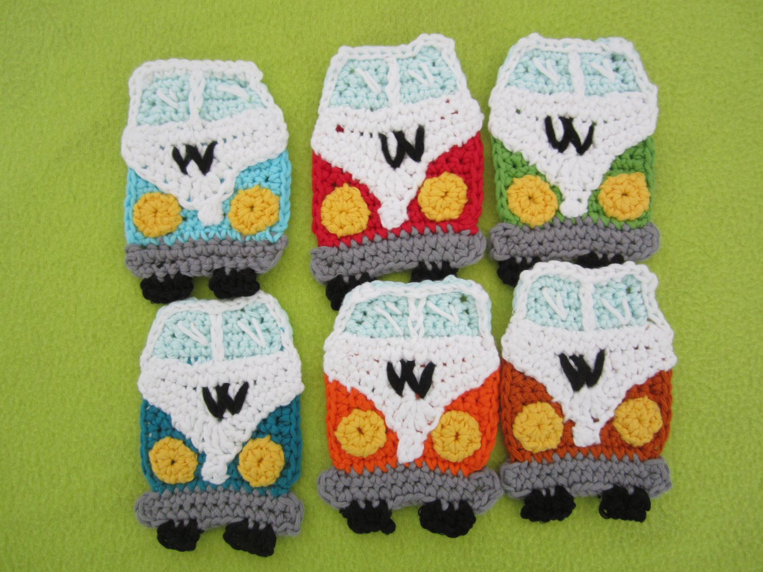 Set of Crochet applique VW