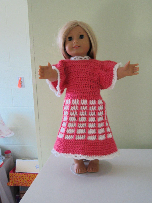 Crochet American girl doll dress