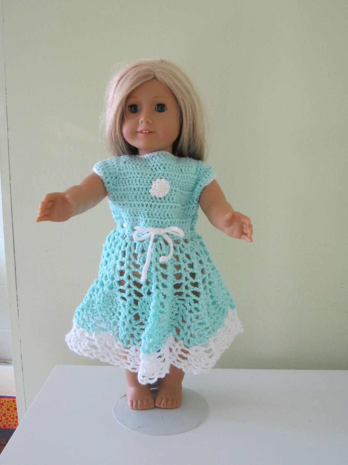 Crochet American girl doll dress