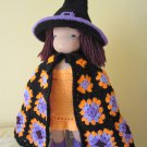 Crochet Witch Halloween Costume for 16 inches Waldorf doll