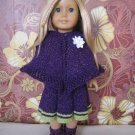 Knitted American girl doll set