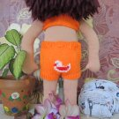 Knitted bathing suit for 16 inches  Waldorf doll