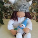 Crochet viking hat for 16 inches  Waldorf doll and American girl doll