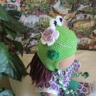 Crochet froggy hat for 16 inches  Waldorf doll and American girl doll
