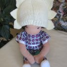 Knitted sun hat for 16 inches Waldorf doll and American girl doll