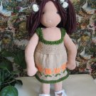 Knitted dress for 16 inches Waldorf and similar sizes dolls