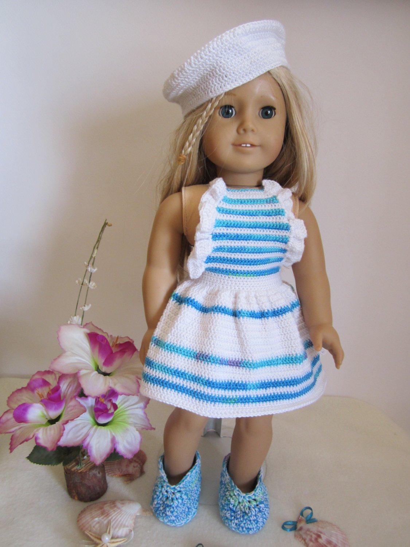 Crochet American girl doll set