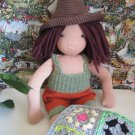 Crochet cowboy hat and romper 16 inches. Waldorf dolls