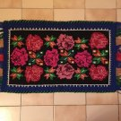 Vintage Handmade Wool Woved Rug