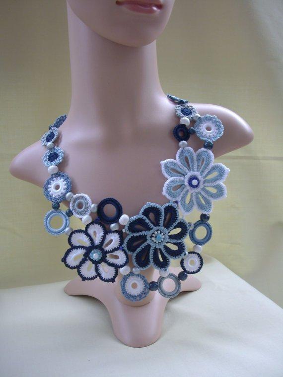 Crochet Necklace Handmade Accessory