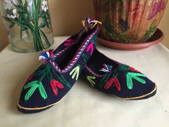 Vintage Native Bulgarian Rhodope Slippers