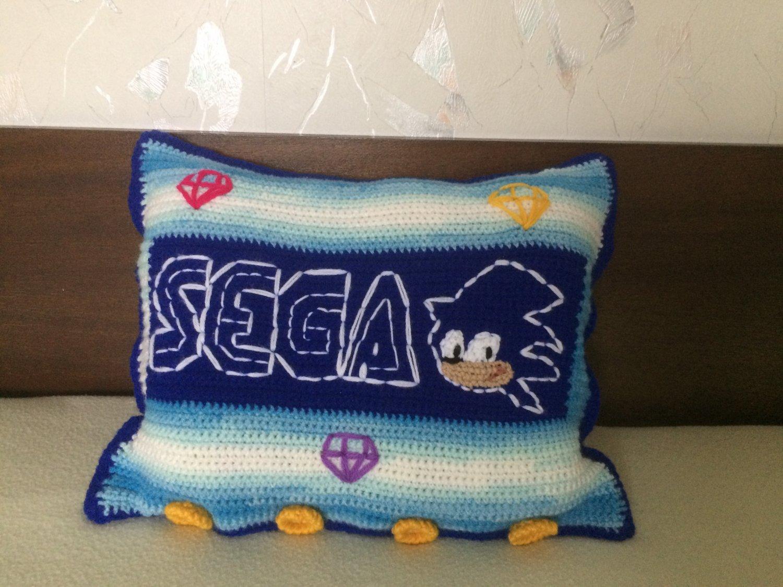 Crochet Hedgehog pillow case