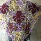 Irish crochet shawl....Iris lace wrap