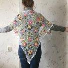 Irish crochet shawl.... lace wrap...