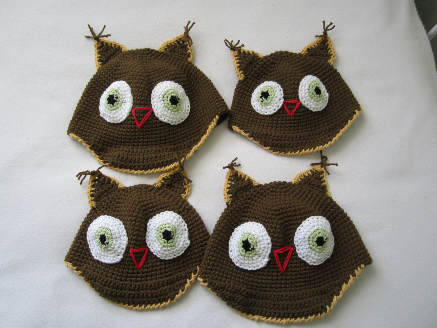 Crochet owl hat