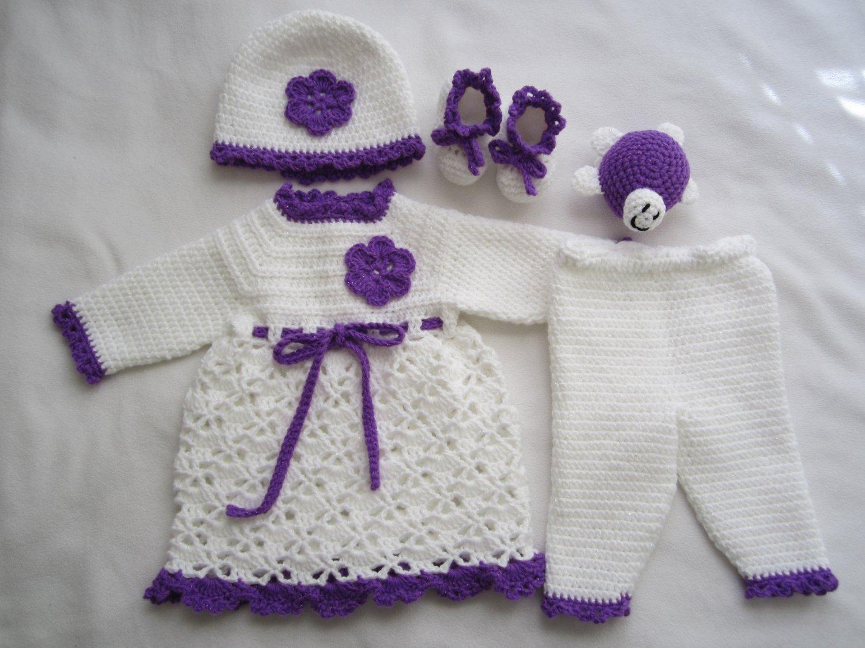 Crochet newborn baby set