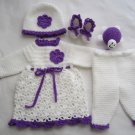 Crochet newborn baby set