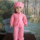 Knitted outfit for American girl doll