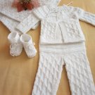 Handknitted baby set