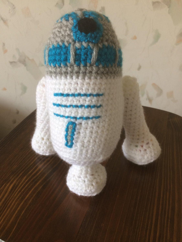 Crochet Toy R2d2 Stuffed Soft Toyar Wars Toy