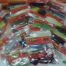LOT OF 50 RETAIL PACKAGES ZOOM BAIT MIXED COLORS & SIZE AND KINDS