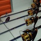 Lot of 4 PIECES RODS Spinning Calypso Mako & REELS 8000 FOR BIG GAME COMBOS