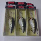 Lot 3 New Rapala CRANKLIN' RAP Floating-Rattle Crankbait CRR-14 YP Yellow Perch