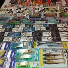 huge lot 100+ fishing tackle hooks & spoon & line & fly & Swivels & VMC & Rapala