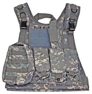 MOLLE Web Tactical Vest - ACU Digital Camo