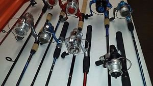 15 FISHING RODS & REELS COMBOS SETS SPINNING & CASTING  SHAKESPEARE & ZEBCO