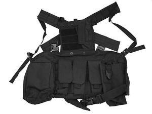 Open Back Tactical Vest - Black