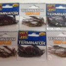 lot 6 TERMINATOR WEEDLESS FOOTBALL JIG & tiny jigs  2 COLORS BASS FISHING JIGS