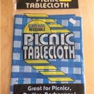 "Tablecloth Picnic Plastic Party Barbecue Waterproof 54"" x 90"" Washable Blue New"