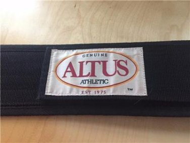 "Altus Athletic 4"" Black Web Weight Lifting Belt Nylon Workout Fitness"