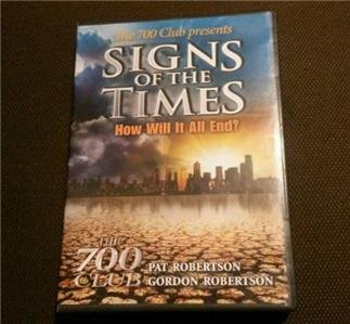 The 700 Club Signs of the Times How Will It All End DVD Pat Robertson New Sealed
