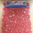 Evri Sink Mat Flower Design Pink 12x10 Size New Anti Slip Cushion Custom Fit