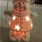 "Snowman on Skies Night Light 11"" Tall International Bazaar in Box with Bulb"