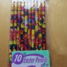 Easter Bunny Rabbit Chicks Spring Pencils New in Package Set of 10 Express Way