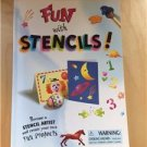 Fun With Stencils Book Art Crafts Kids Adults Scrap Booking Paint