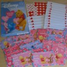 Disney Winnie the Pooh Valentine Sticker Cards With Envelopes