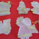 Set of 6 Plastic Christmas Holiday Tree Hanging Ornaments Decorations