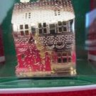 "Christmas Holiday Tree Ornament Joy Brite # 74E9800 Gold House Tree 2"" Tall NIB"