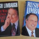 Rush Limbaugh 2 Hardcover Book See I Told You So and The Way Things Ought To Be